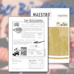 Werbebeileger (Florpost) für zusätzliche Kaufimpulse selbst gedruckt auf Dünndruckpapier