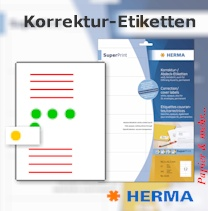 Undurchsichtige Korrektur- und Abdecketiketten zur Textkorrekturen und Bildkorrekturen