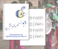 Notenhefte aus wetterfestem Papier für Musikfeste im Freien