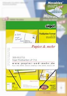 Abziehbare Etiketten für Verkaufskartons