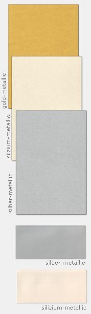 Metallicpapier mit metallisch glänzender Oberfläche für Einladungen