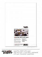 laserFOL PETP 275 opak a4 - 50 Blatt