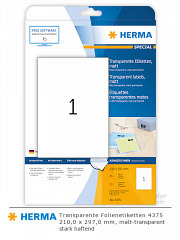 HERMA transparente Etikettenfolie 4375