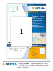 HERMA transparente Etikettenfolie 4376