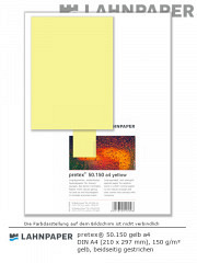 pretex 50.150 DIN A4 gelb - 50 Blatt