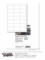 RegalSchilder 6538 - 150 Blatt