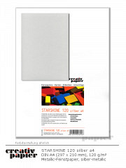 STARSHINE 120 silber a4 - 50 Blatt