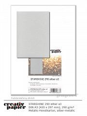 STARSHINE 290 silber DIN A3 - 50 Blatt