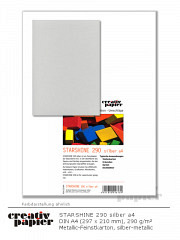 STARSHINE 290 silber DIN A4 - 50 Blatt