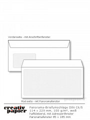 Panorama-Fensterumschläge DIN C6/5 HK