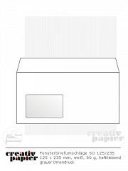 Fenster-Briefumschläge 125/235 HK