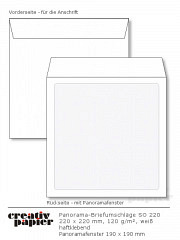 Panorama-Umschläge 220 x 220 mm HK