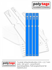 Tyvek Schlaufenetiketten 2212 blau