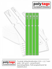 Tyvek Schlaufenetiketten 2212 grün
