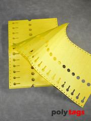 Tyvek Schlaufenetiketten 2225 gelb