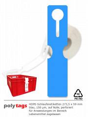 HDPE-Schlaufenetiketten 2759 blau