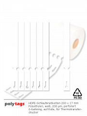 PE-Schlaufenetiketten 25171 weiß
