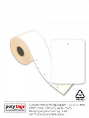 TT-Schilder mit Loch 1075 weiß