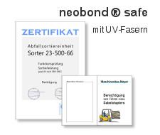 neobond® safe - Sicherheitspapier