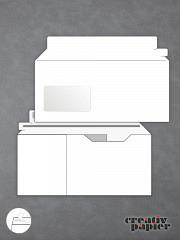 CD-Kompakt-Versandumschläge mit Fenster - 50er Pack