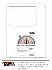 laserFOL PET 200 Startnummern - 100 Stück