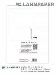 pretex 30.120 -digital- DIN A4 rot/weiss - 500 Blatt