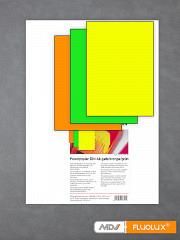 Plakatpapier neon-grün, neon-gelb, neon-orange DIN A4