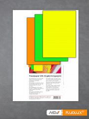 Plakatpapier neon-grün, neon-gelb, neon-orange DIN A3