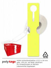 HDPE-Schlaufenetiketten 2759 gelb